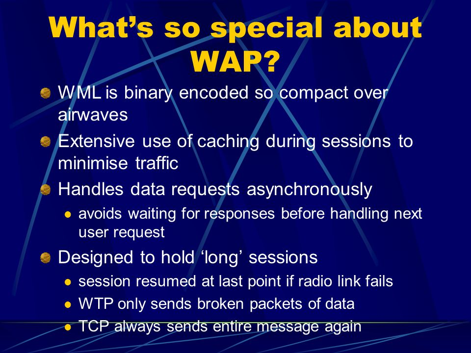 What's so special about WAP.
