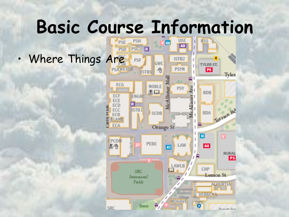 Basic Course Information Where Things Are