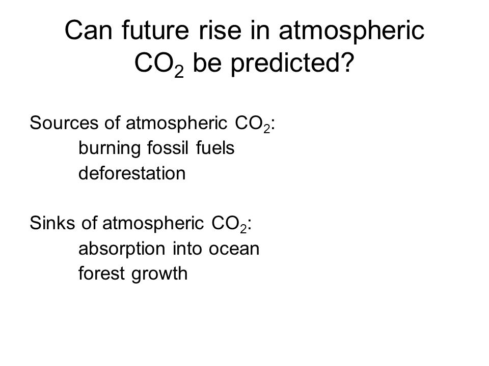 Can future rise in atmospheric CO 2 be predicted.