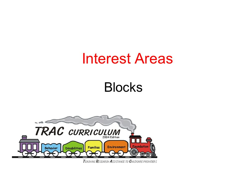 Interest Areas Blocks