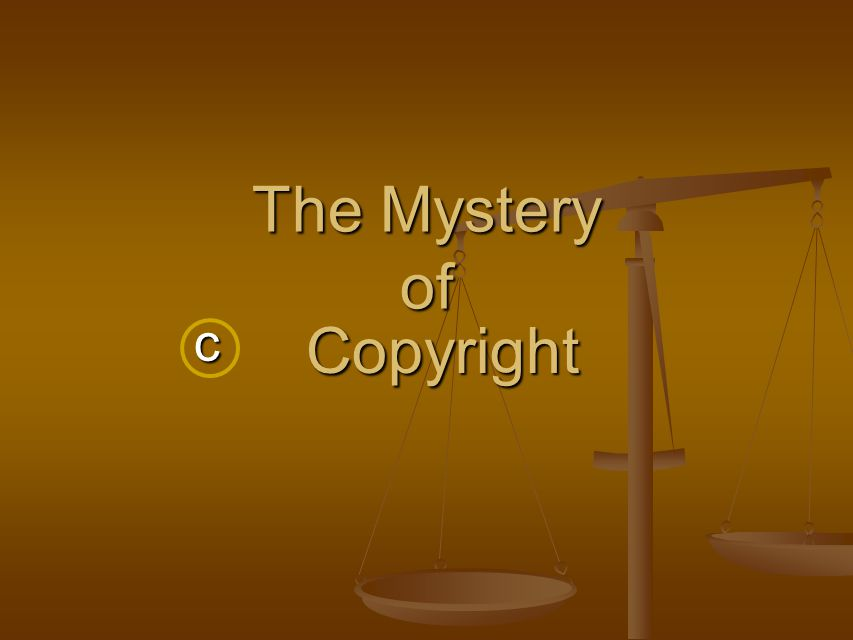 The Mystery of c Copyright