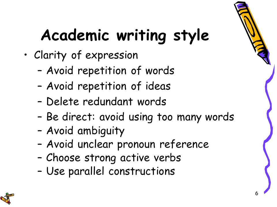 In academic writing