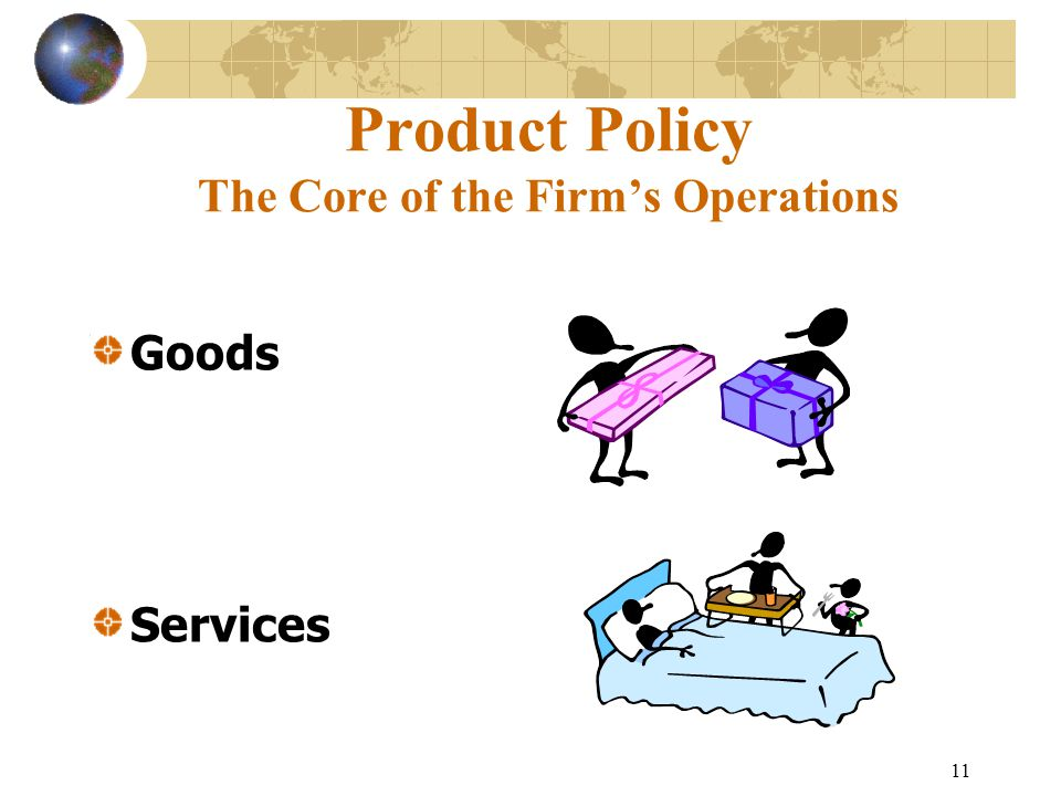 11 Product Policy The Core of the Firm's Operations Goods Services