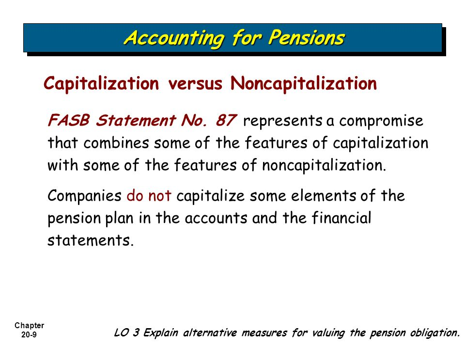Chapter 20-9 Capitalization versus Noncapitalization FASB Statement No.