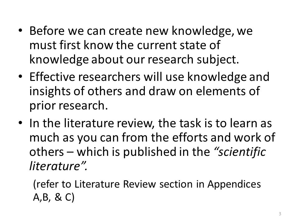 Organizing literature review