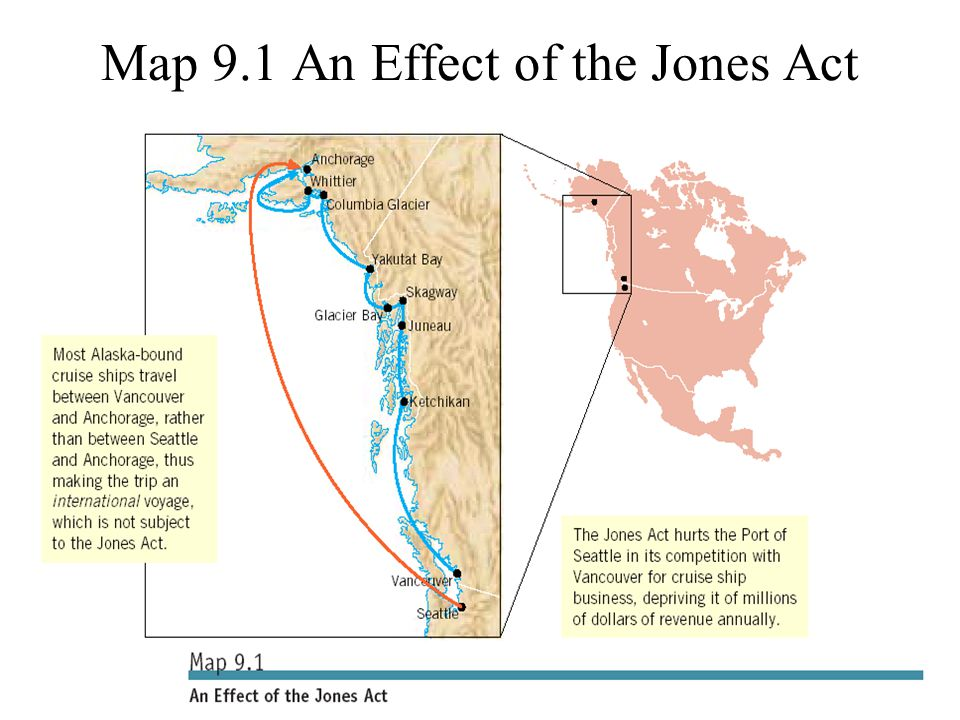 ©2004 Prentice Hall9-13 Map 9.1 An Effect of the Jones Act