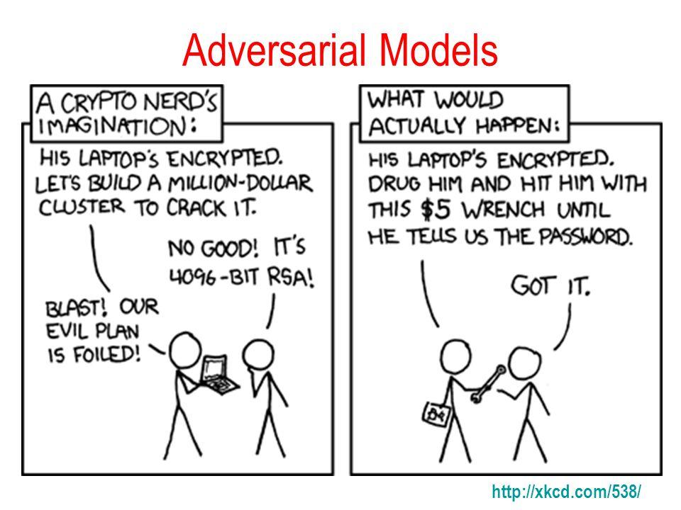 Adversarial Models http://xkcd.com/538/