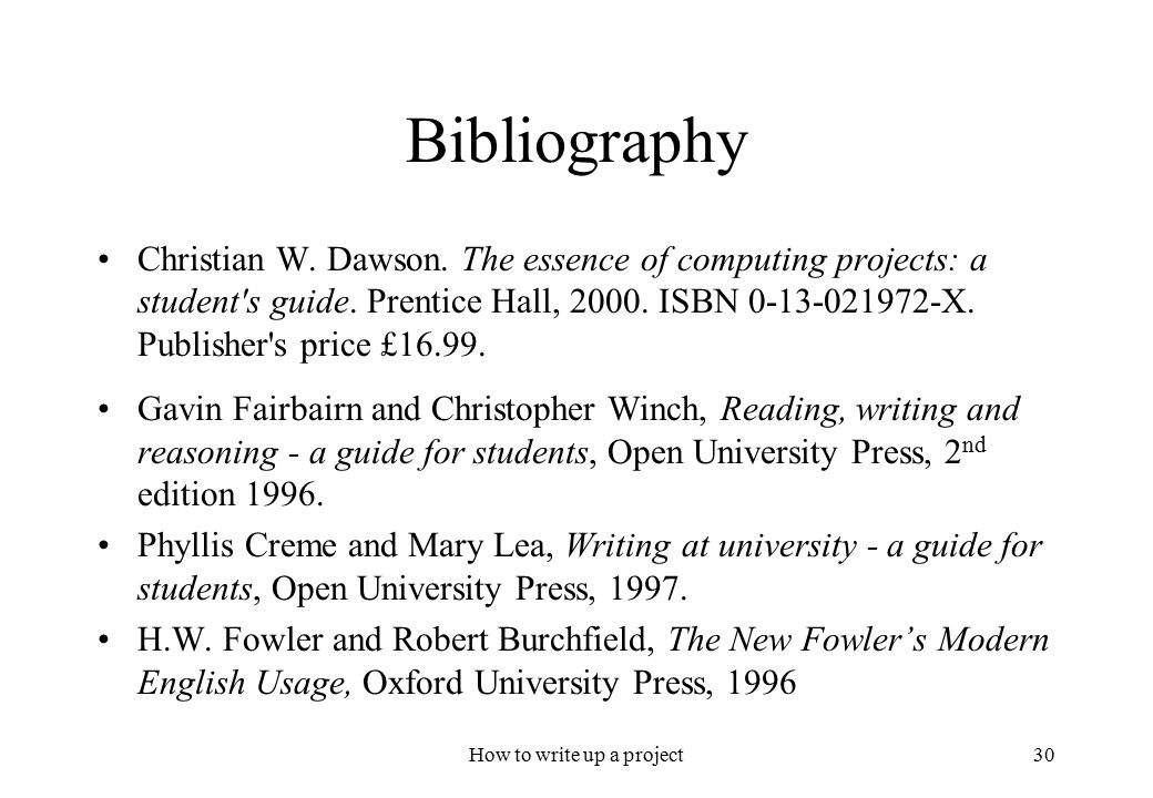 How to correctly write a bibliography