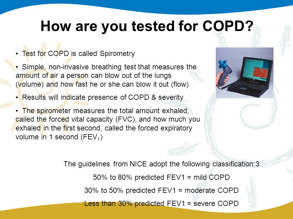 How are you tested for COPD.