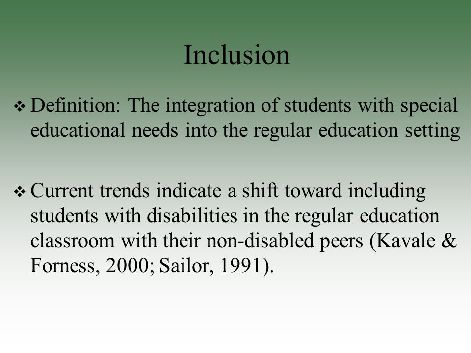 inclusion and special education Building bridges between science and special education: inclusion in the science classroom.