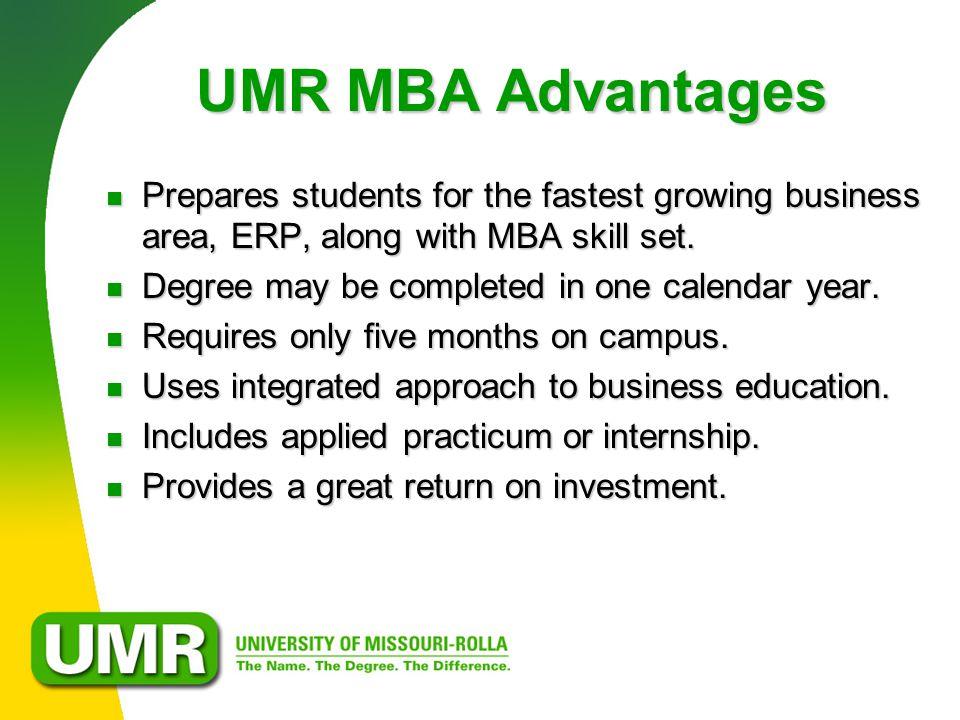 THE UMR MBA Business.Technology.Innovation Begins January Begins ...