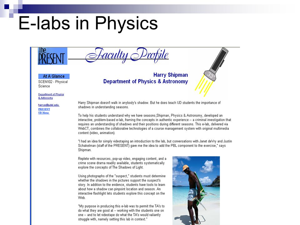 E-labs in Physics