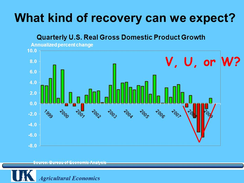 Agricultural Economics What kind of recovery can we expect.