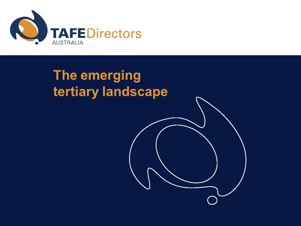 The emerging tertiary landscape