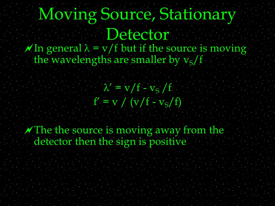 doppler effect equation signs. 11 moving source doppler effect equation signs