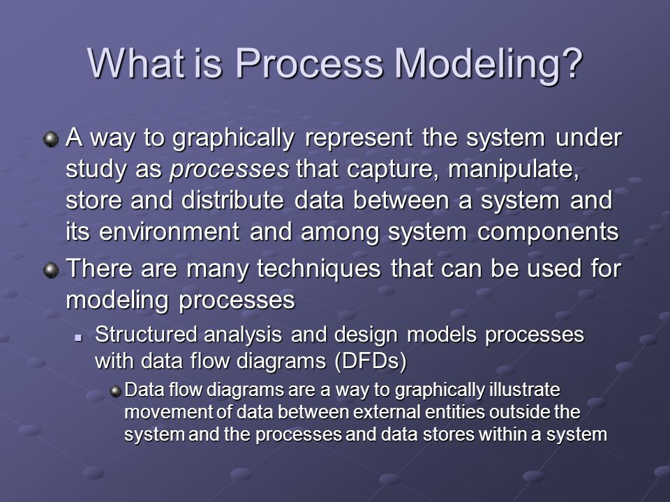 What is Process Modeling.