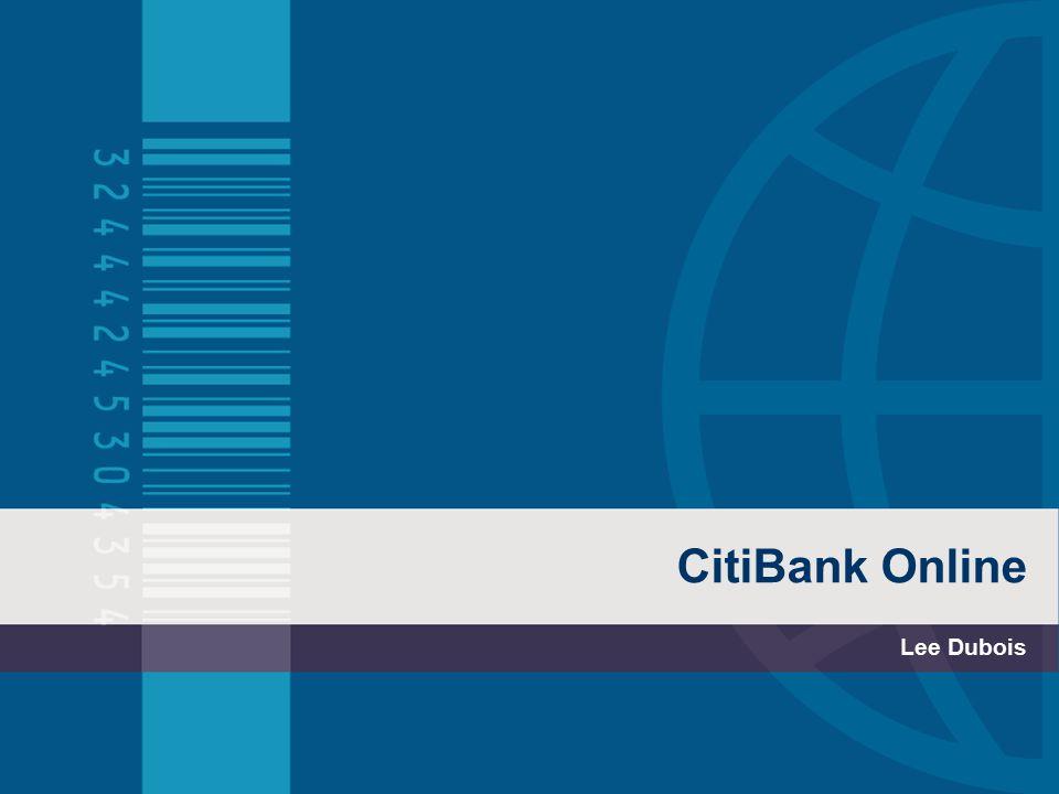 CitiBank Online Lee Dubois
