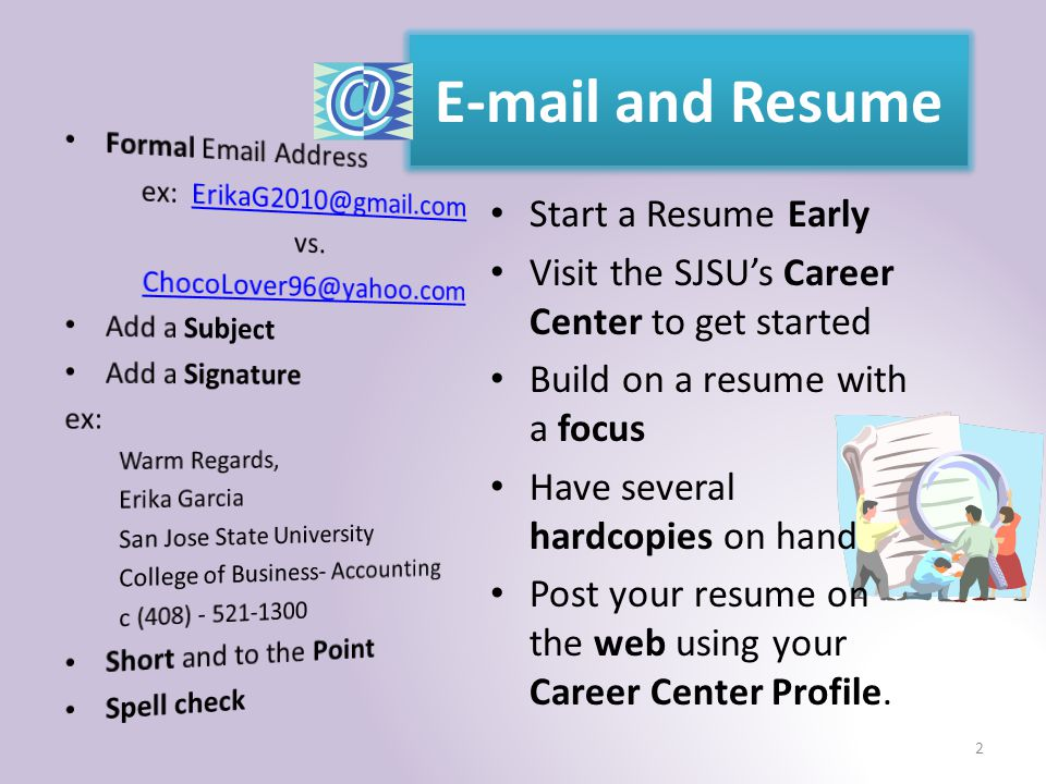 sjsu resume example resume and cover letter
