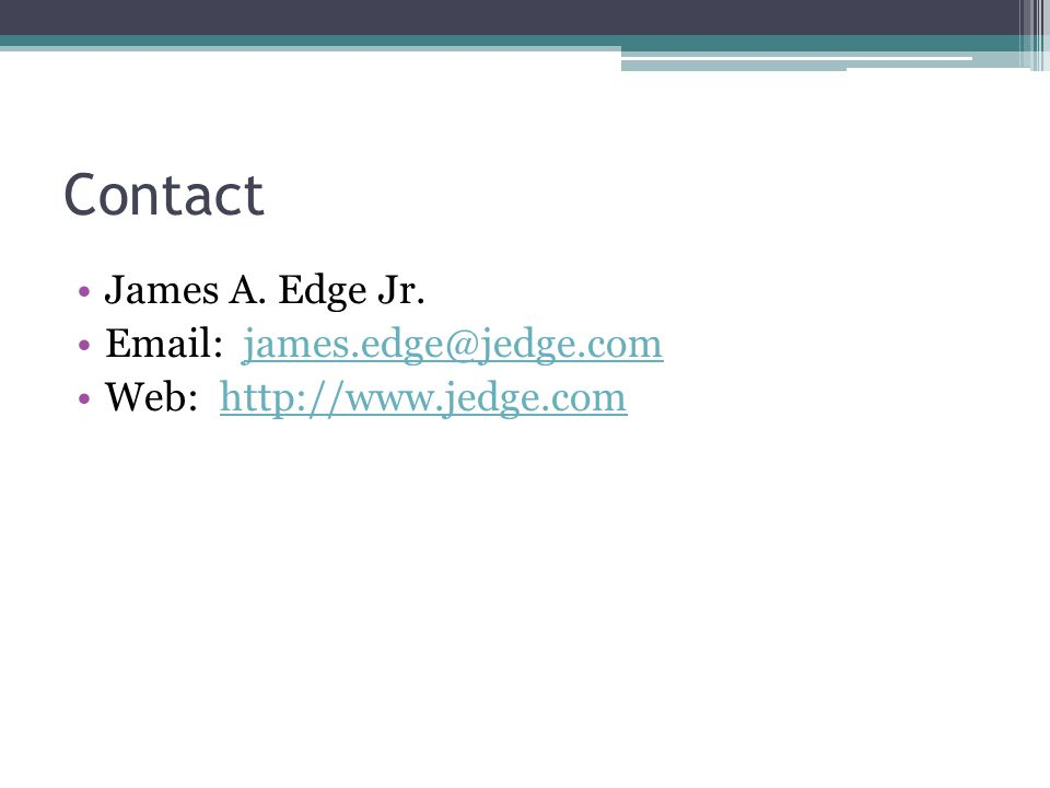 Contact James A. Edge Jr.