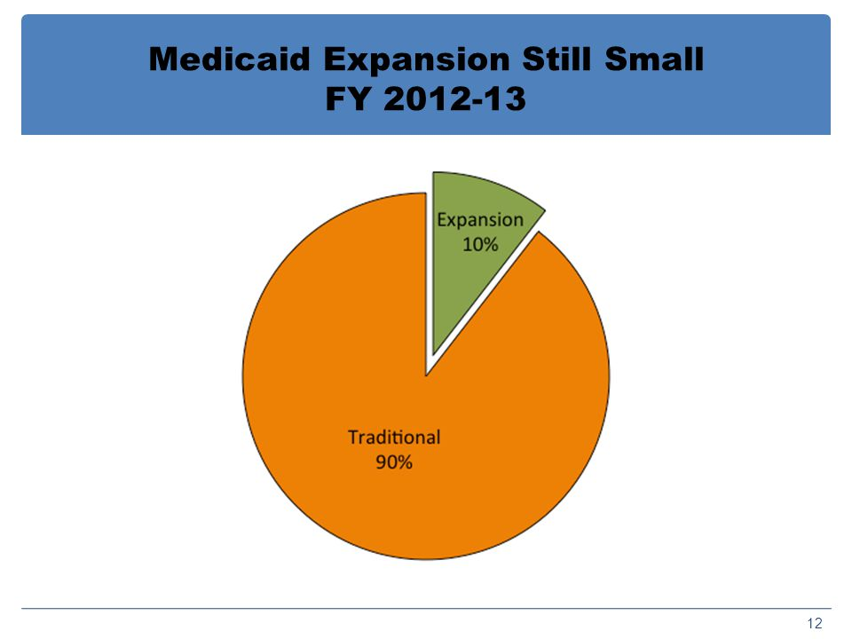 Medicaid Expansion Still Small FY