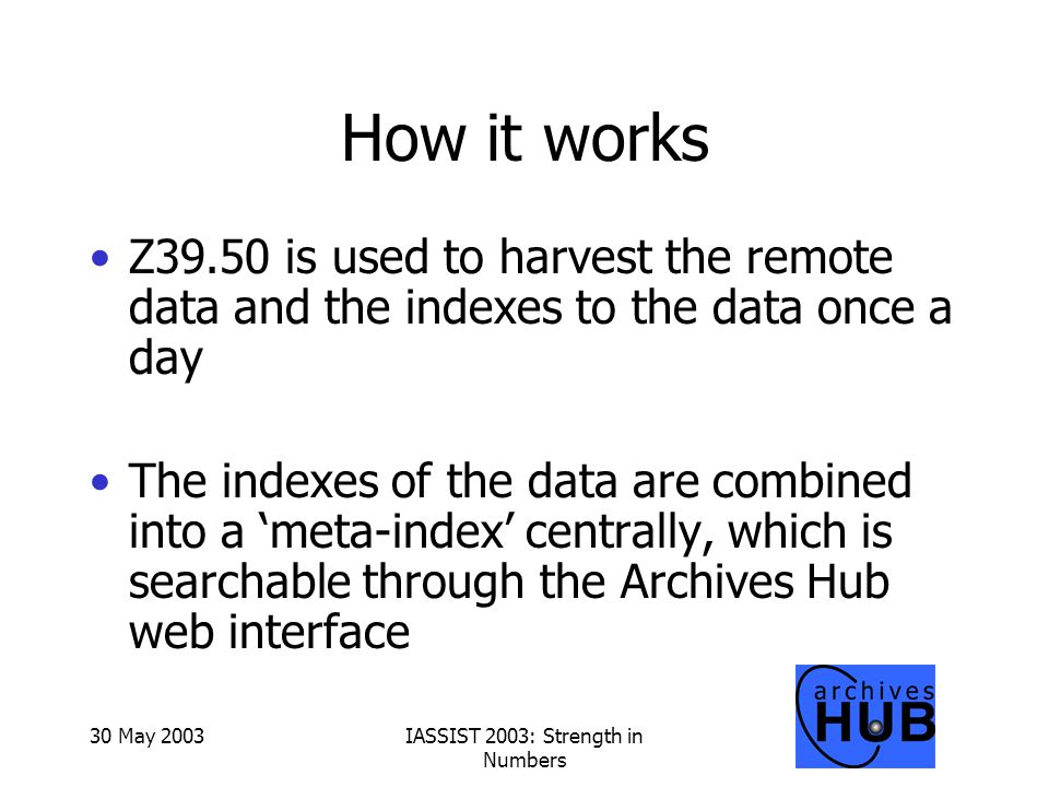 New model Archives Hub Server Data Hub ser interface