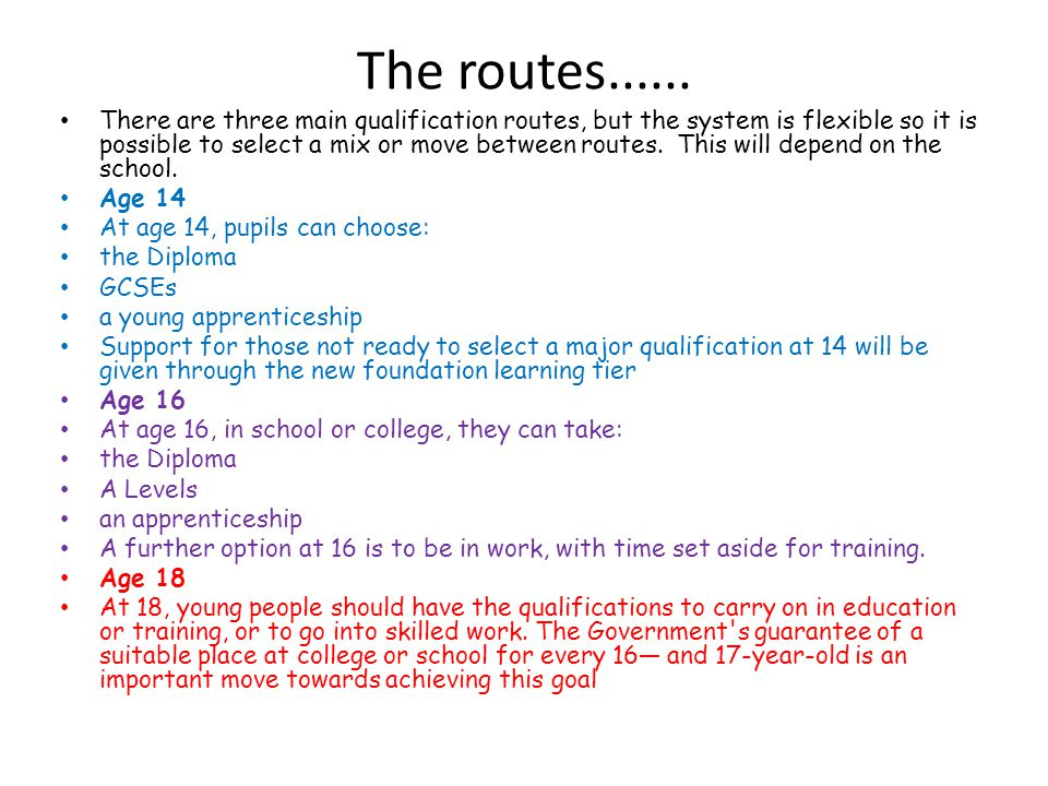 The routes......