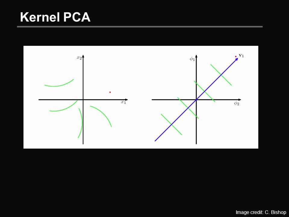 Kernel PCA Image credit: C. Bishop