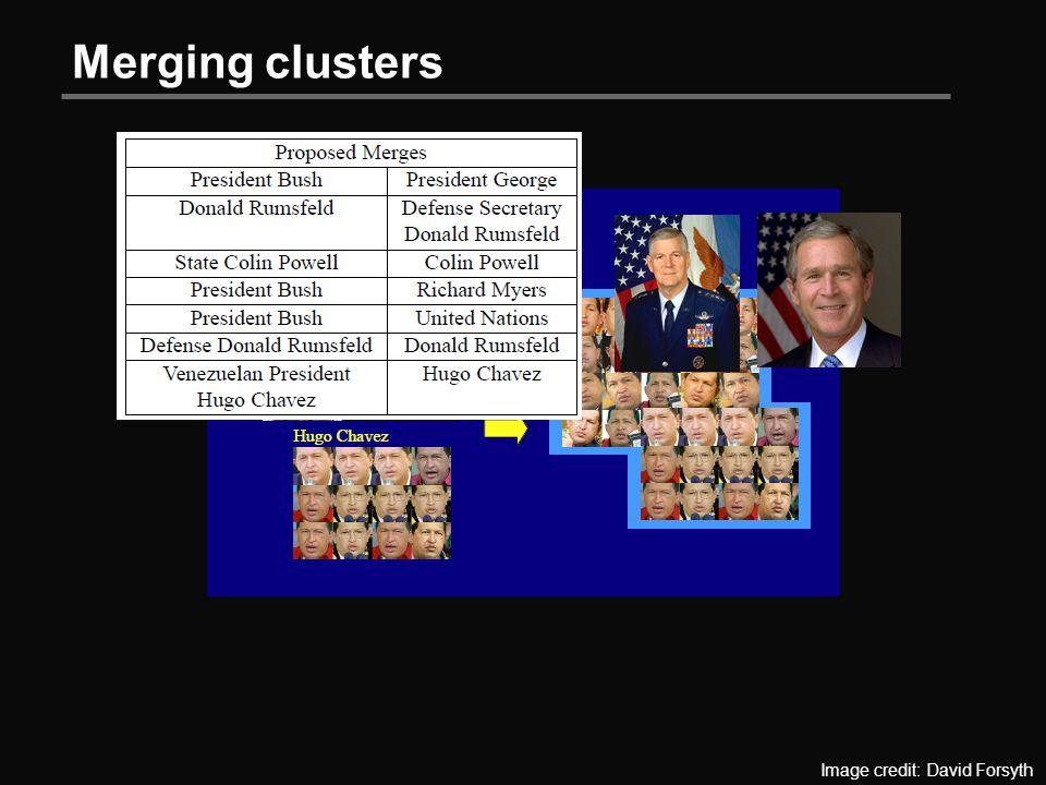 Merging clusters Image credit: David Forsyth