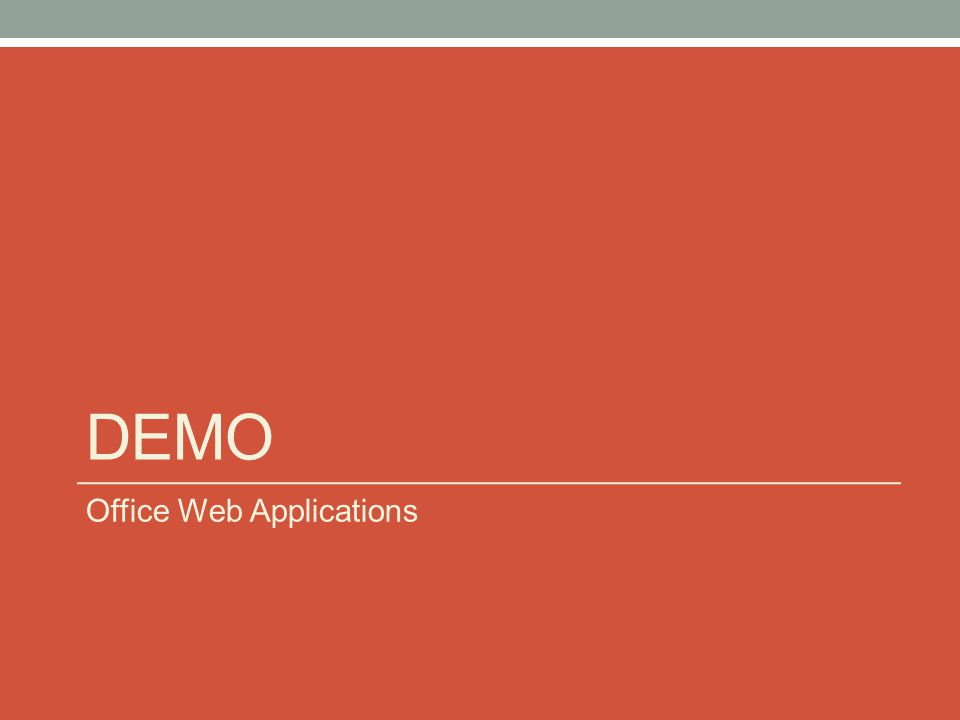 DEMO Office Web Applications