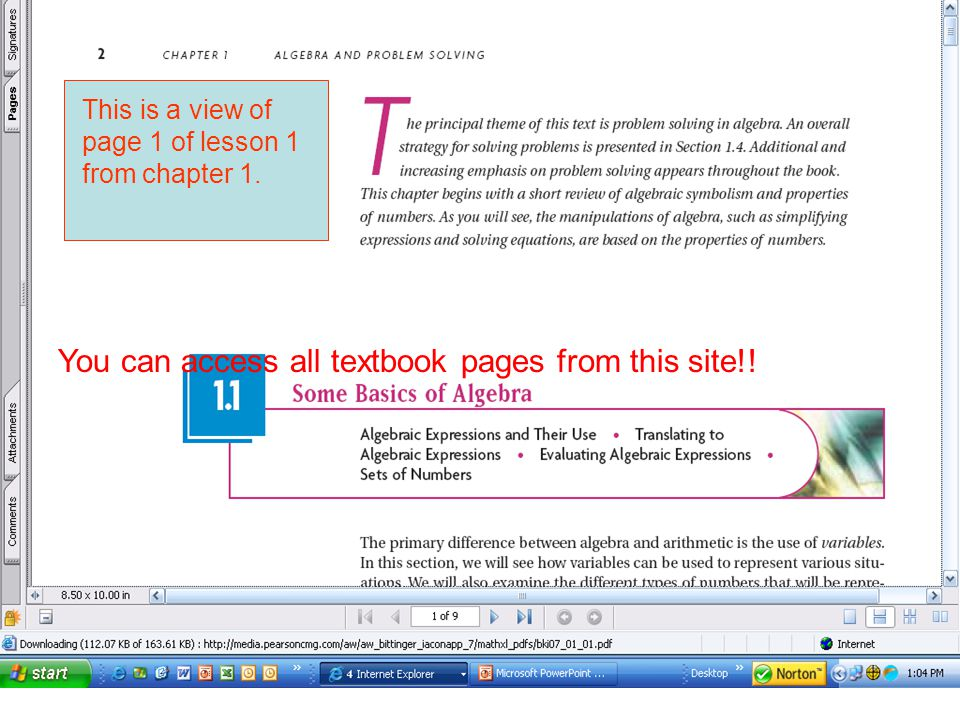 You can access all textbook pages from this site!.