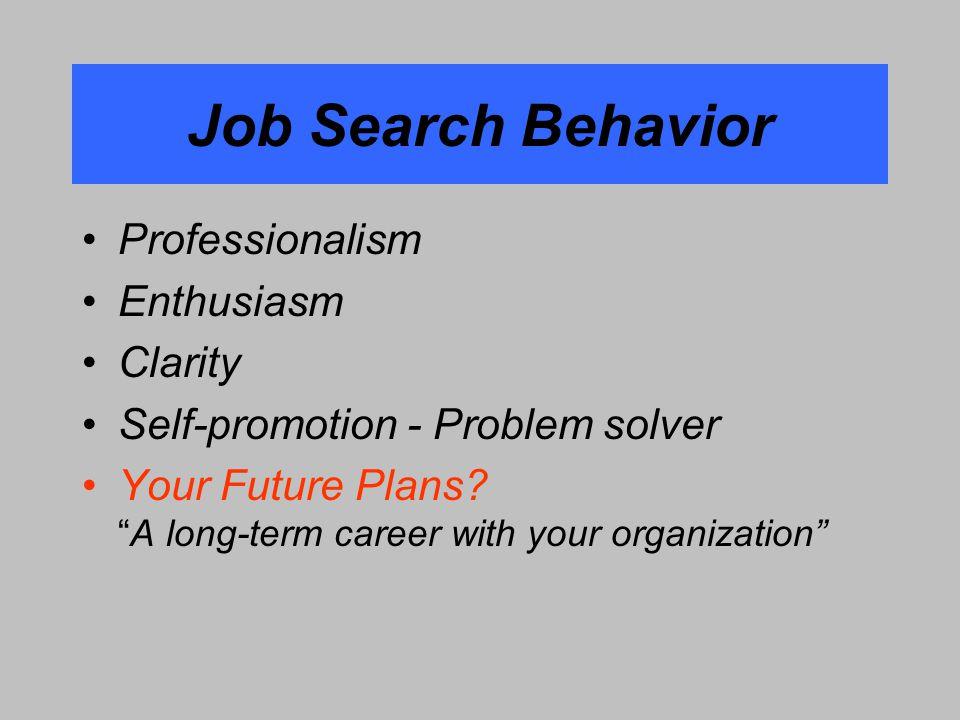 9 Job Search ...