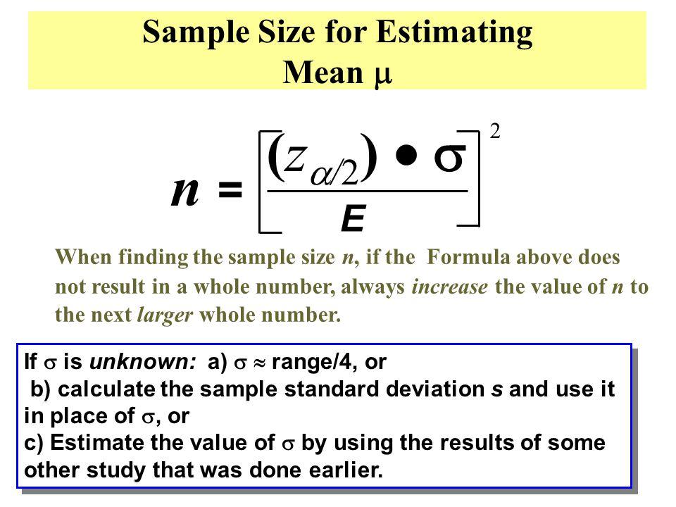 N Sample Size – EHCI