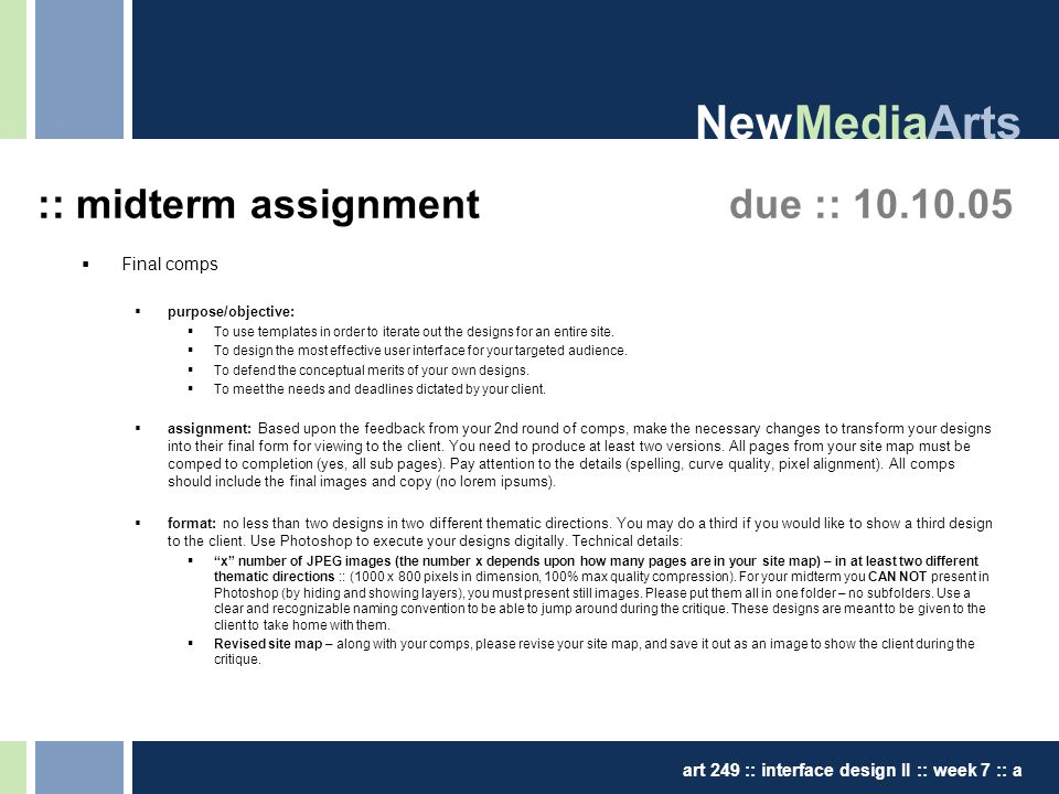 thesis presentation iv – fall midterm review newmediaarts art 249, Presentation templates