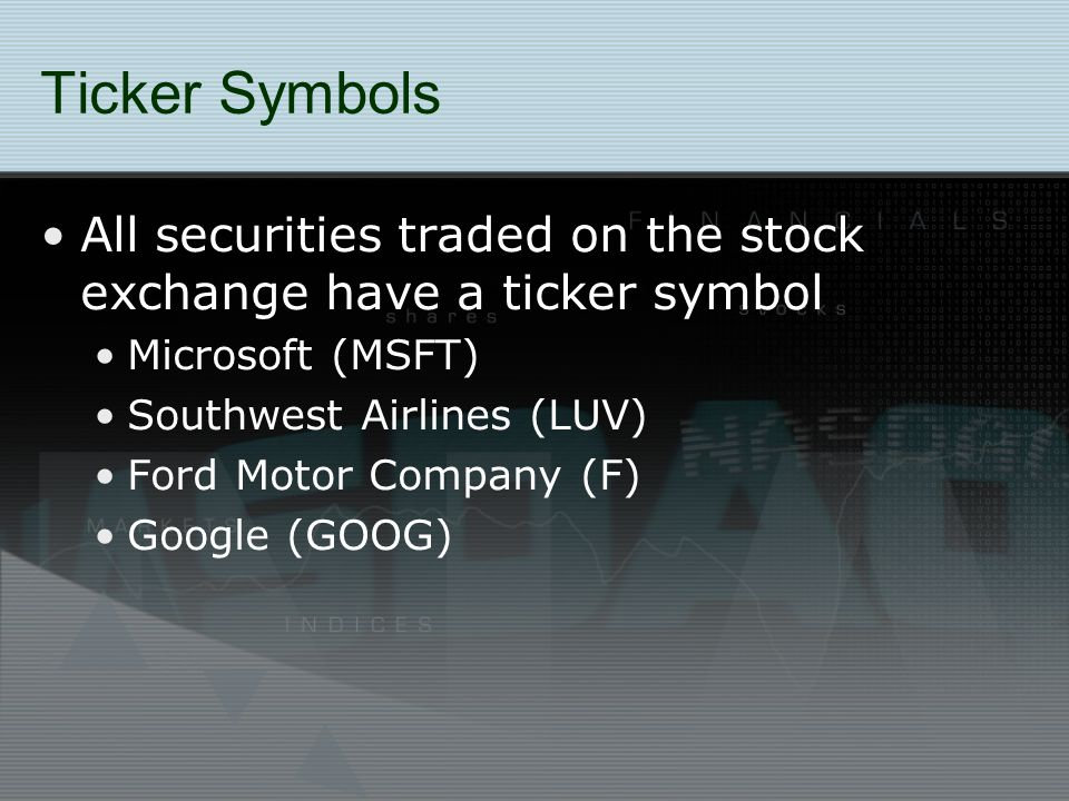 Stock Market Basics What Are Stocks Stock Is Ownership In A