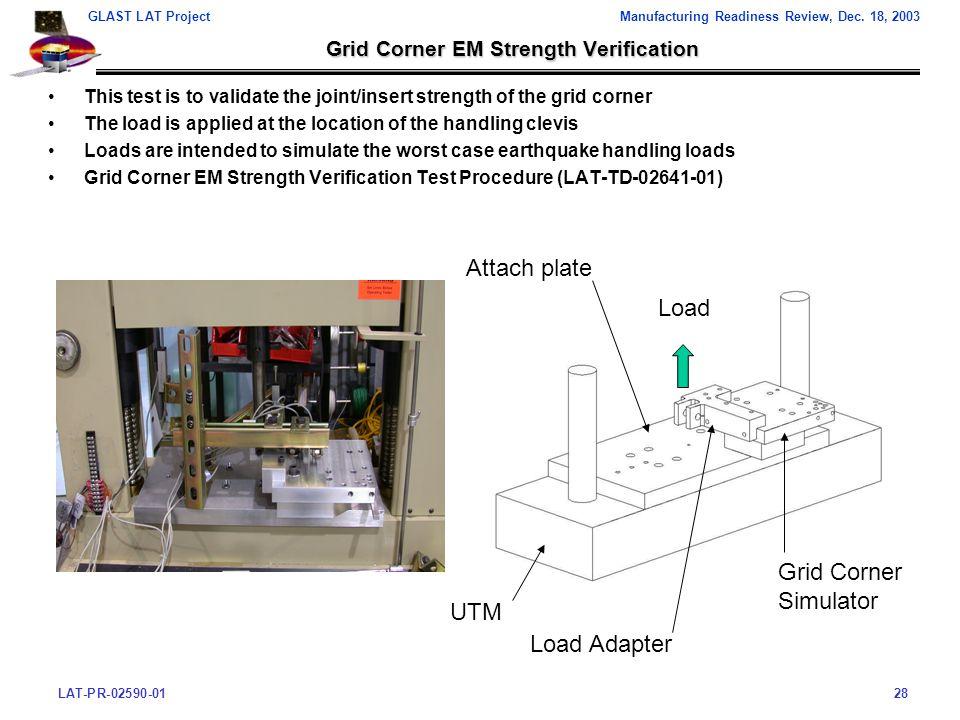 LAT-PR-02590-0128 GLAST LAT ProjectManufacturing Readiness Review, Dec.