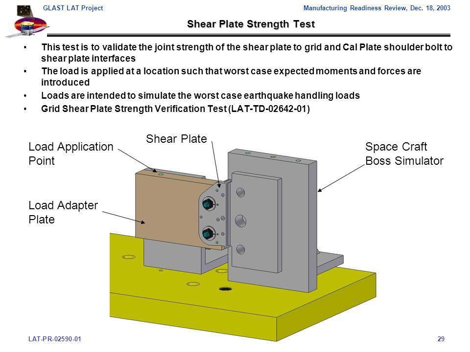 LAT-PR-02590-0129 GLAST LAT ProjectManufacturing Readiness Review, Dec.