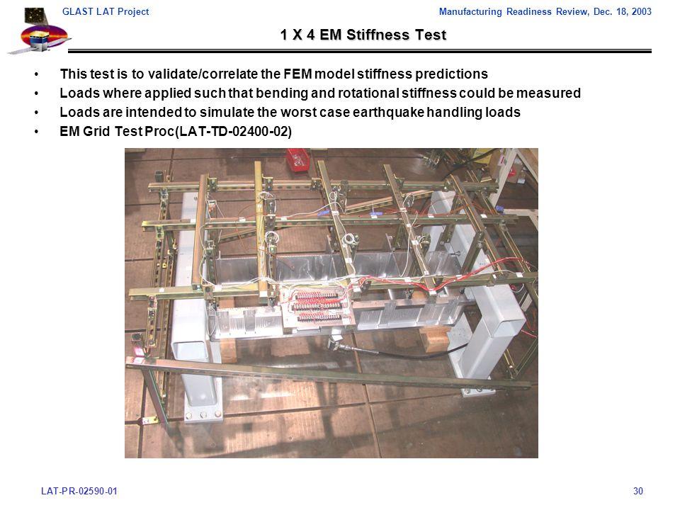 LAT-PR-02590-0130 GLAST LAT ProjectManufacturing Readiness Review, Dec.