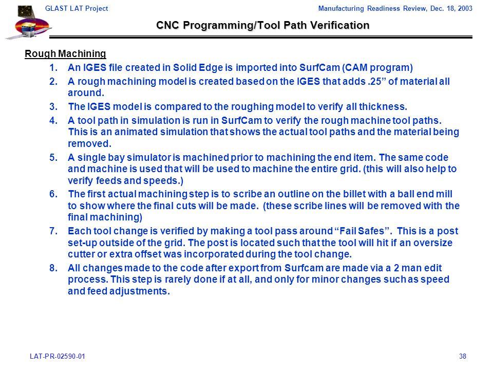 LAT-PR-02590-0138 GLAST LAT ProjectManufacturing Readiness Review, Dec.