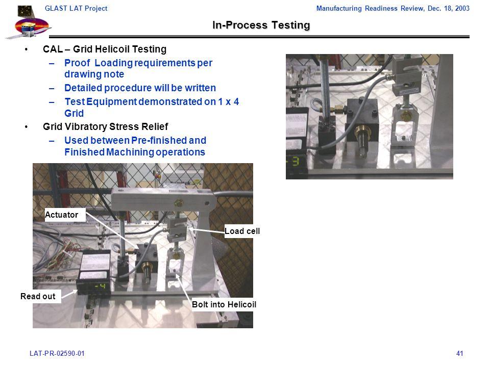 LAT-PR-02590-0141 GLAST LAT ProjectManufacturing Readiness Review, Dec.