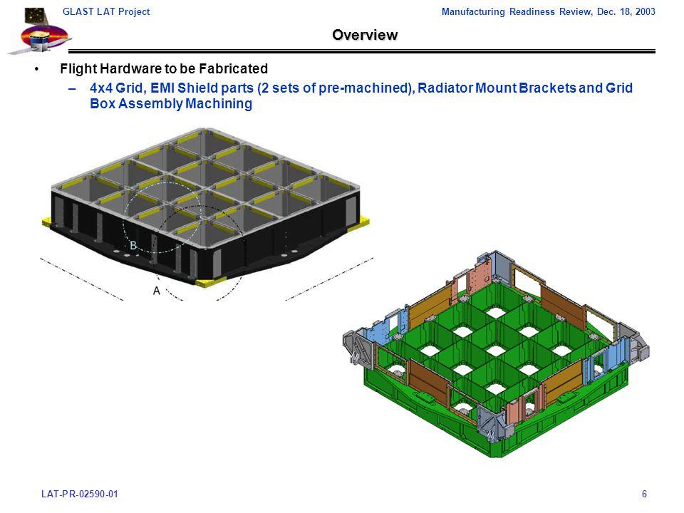 LAT-PR-02590-016 GLAST LAT ProjectManufacturing Readiness Review, Dec.