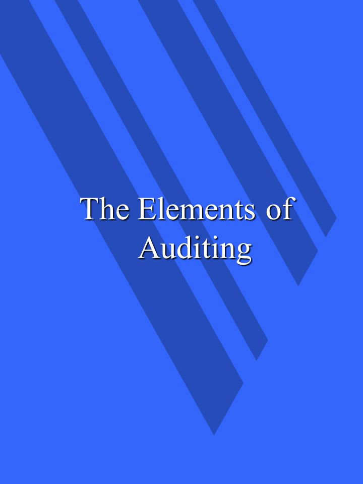 The Elements of Auditing