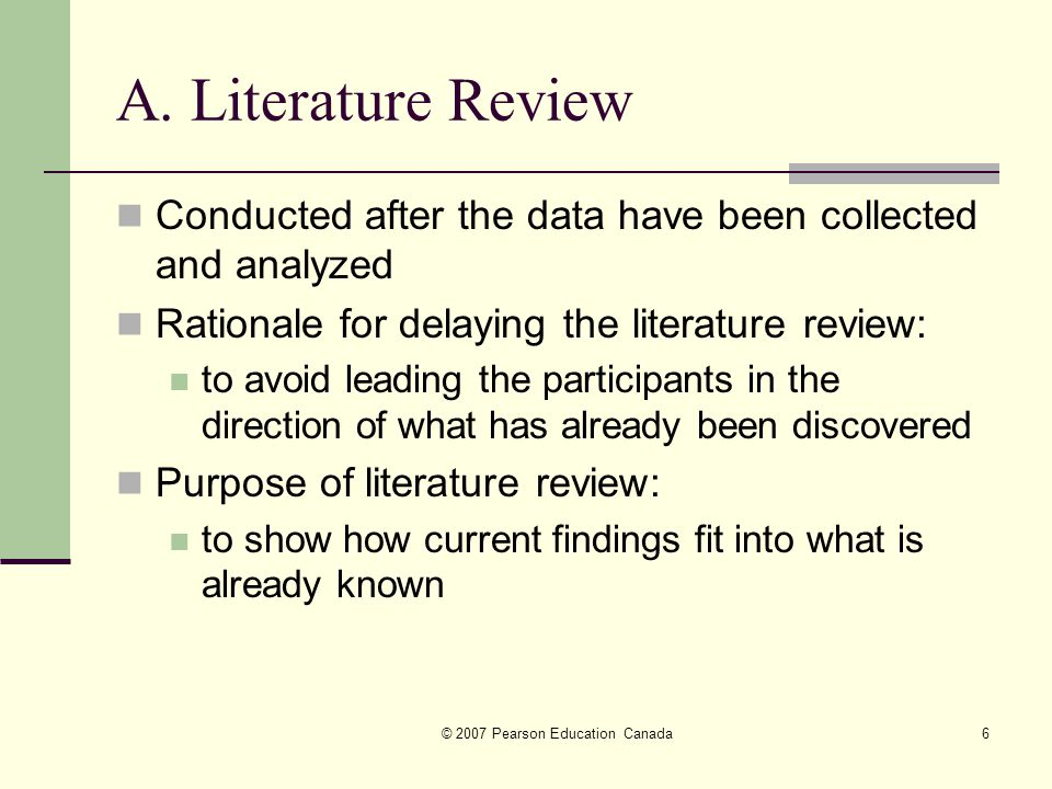 Literature Review: An Overview