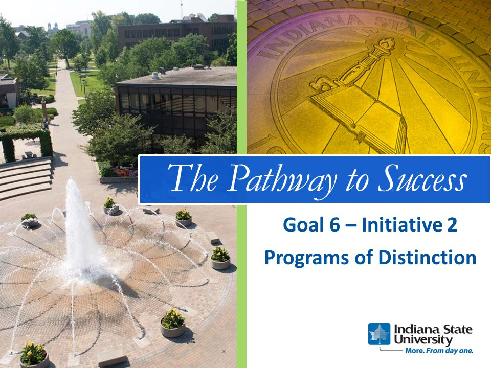 The Pathway to Success Programs of Distinction Goal 6 – Initiative 2