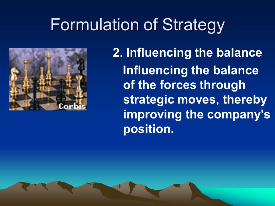 Formulation of Strategy 2.
