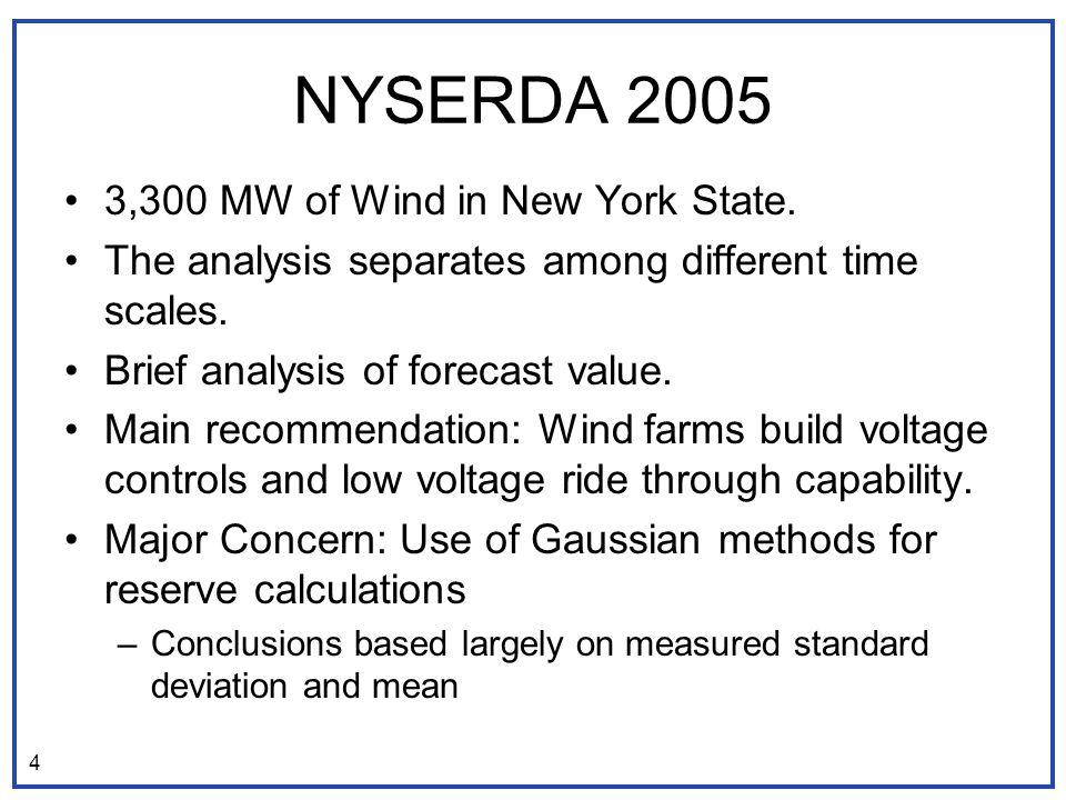 NYSERDA ,300 MW of Wind in New York State.