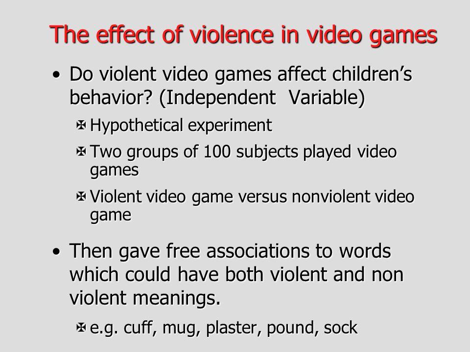 Violent Video Games Statistics On Children
