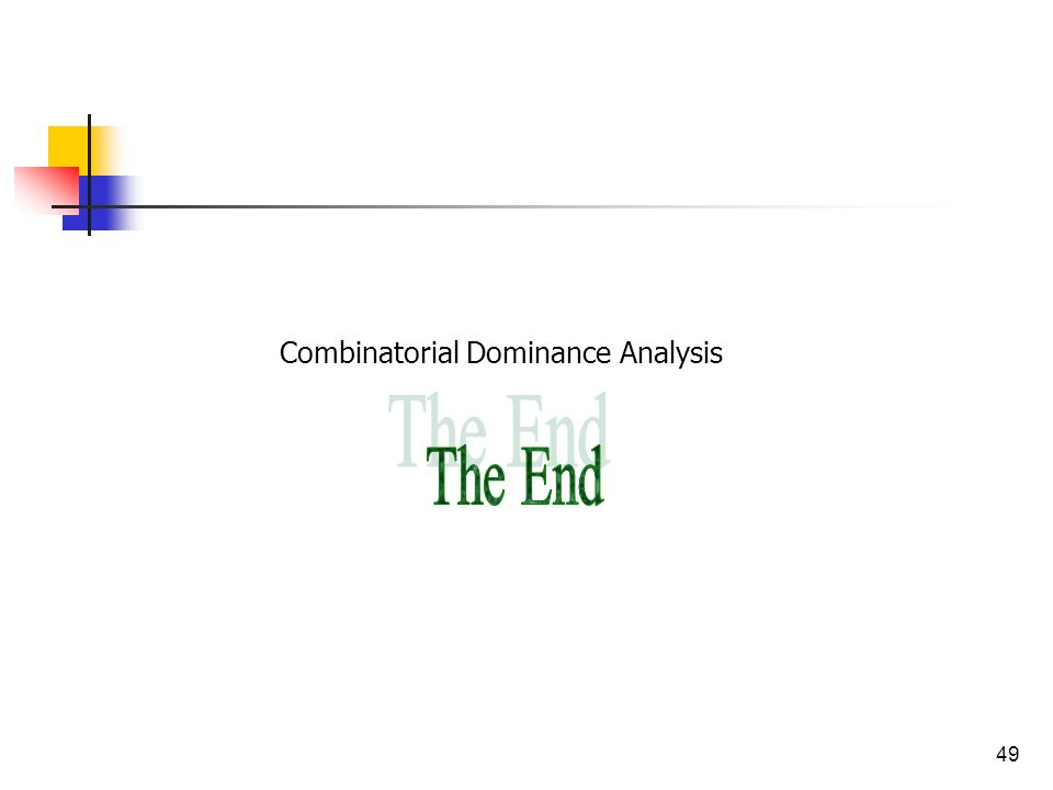 49 Combinatorial Dominance Analysis