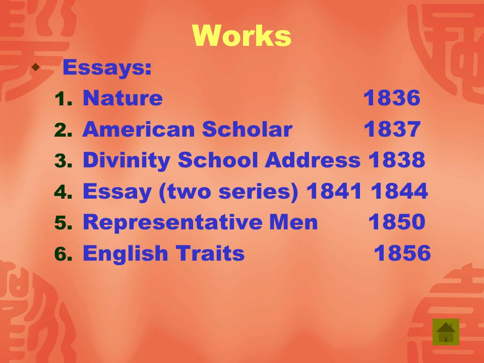 Divinity school address and essay