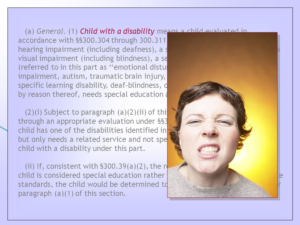 C hild with a Disability Definition (a) General.