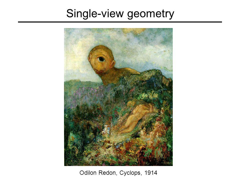 Single-view geometry Odilon Redon, Cyclops, ppt download